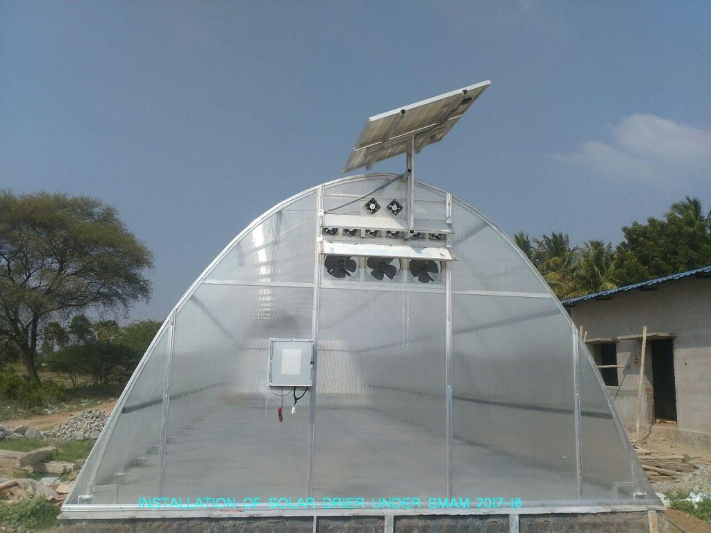 Agricultural Engineering - Installation of Solar Drier.