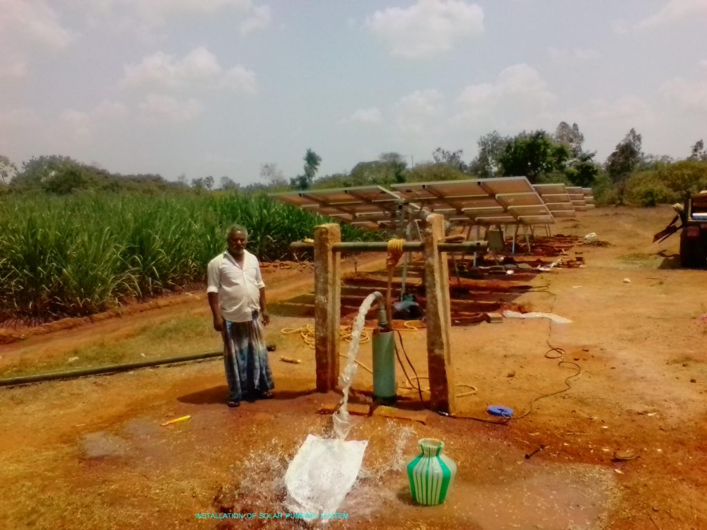 Agricultural Engineering - Installation of Solar Pumping System.