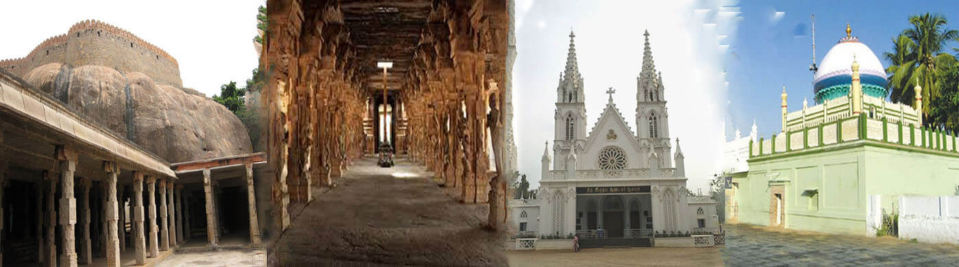 Thirumayam Temple - Pragathambal Temple - Sacred Heart Church - Kattubhava Pallivasal.