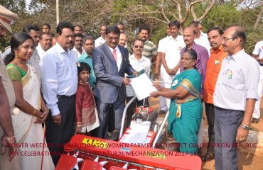 Agricultural Engineering - Distribution of Power Weeder.