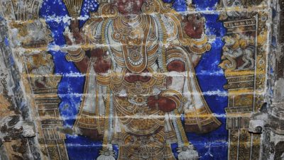 Avudaiyarkovil - Lord Siva Painting.