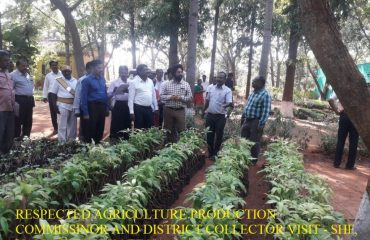 Horticulture - Agriculture Production Commisinor and District Collector Visit - Vallathirakkottai.