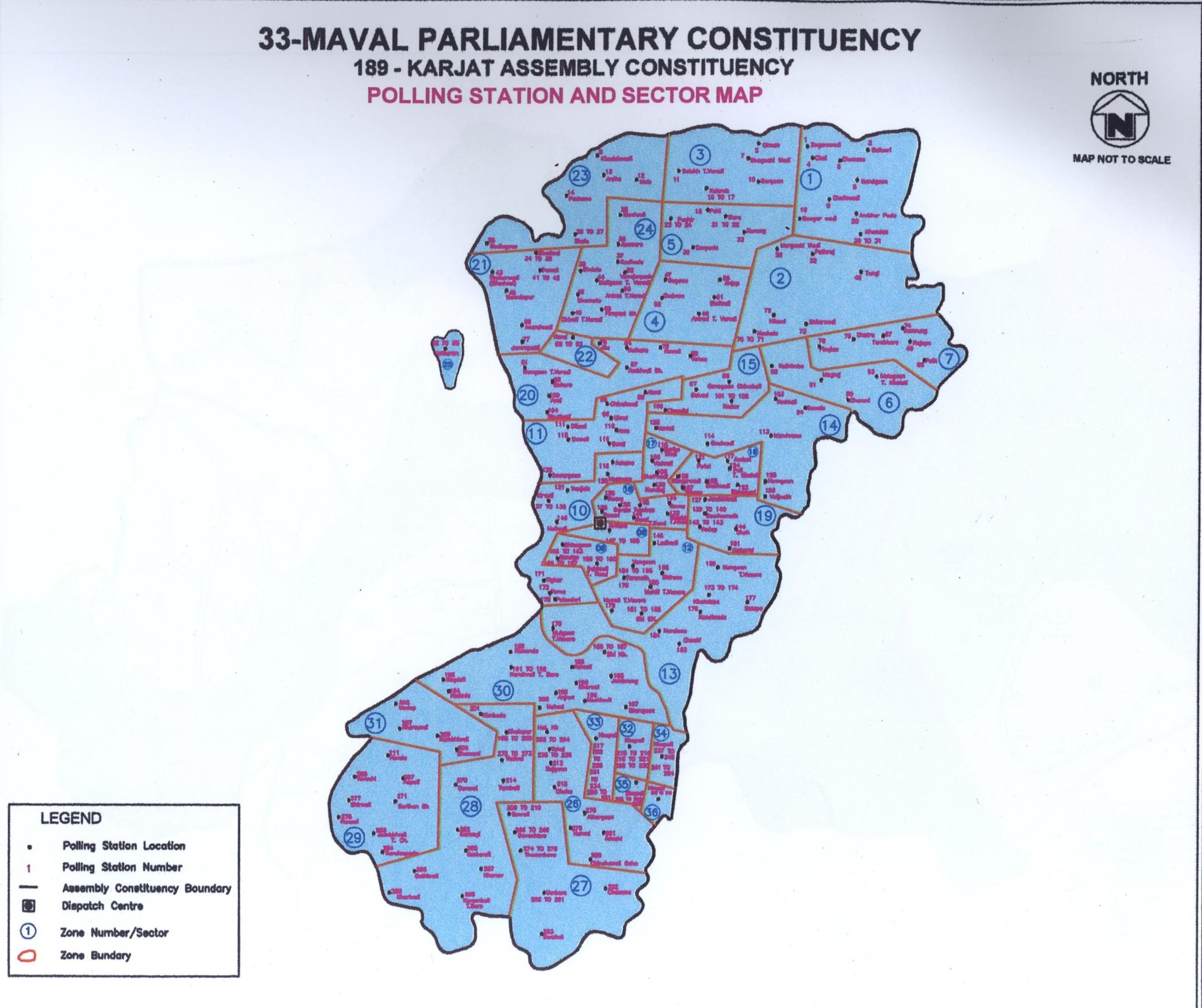 मावळ लोकसभा मतदार संघाचा नकाशा