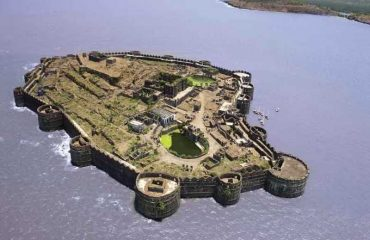 Aerial view of Murud-Janjira Fort