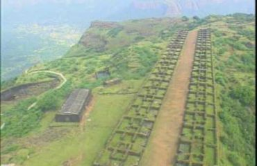 Ruins of marketplace, Raigad Fort