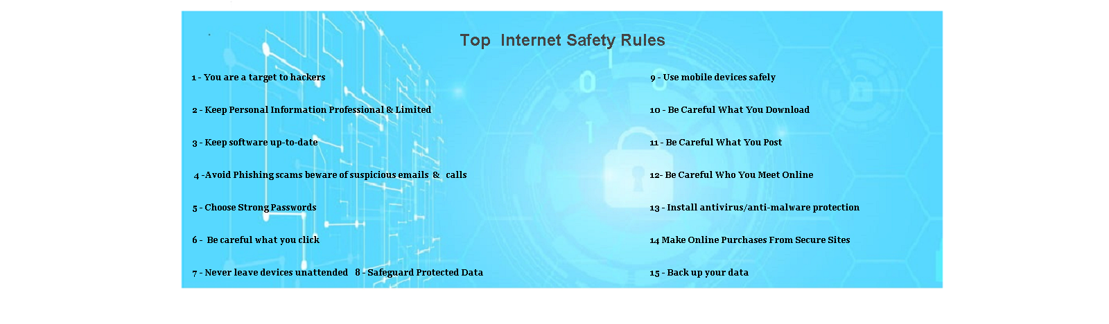 Top- Internet Safety Rules