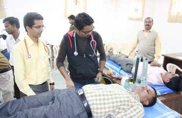 Blood Donation by Officer