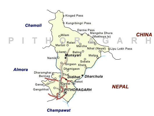 pithoragarh map