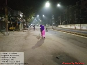 Night Cleaning at Gopalpur NAC