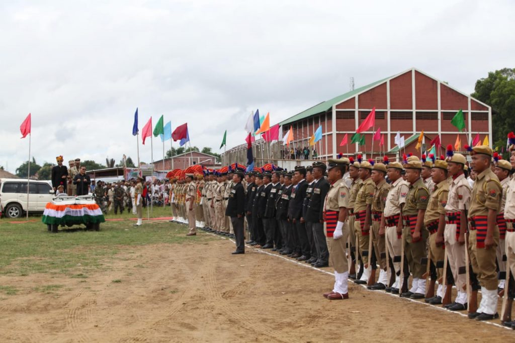 Parade Contingents inspection by VIPs on 15th August