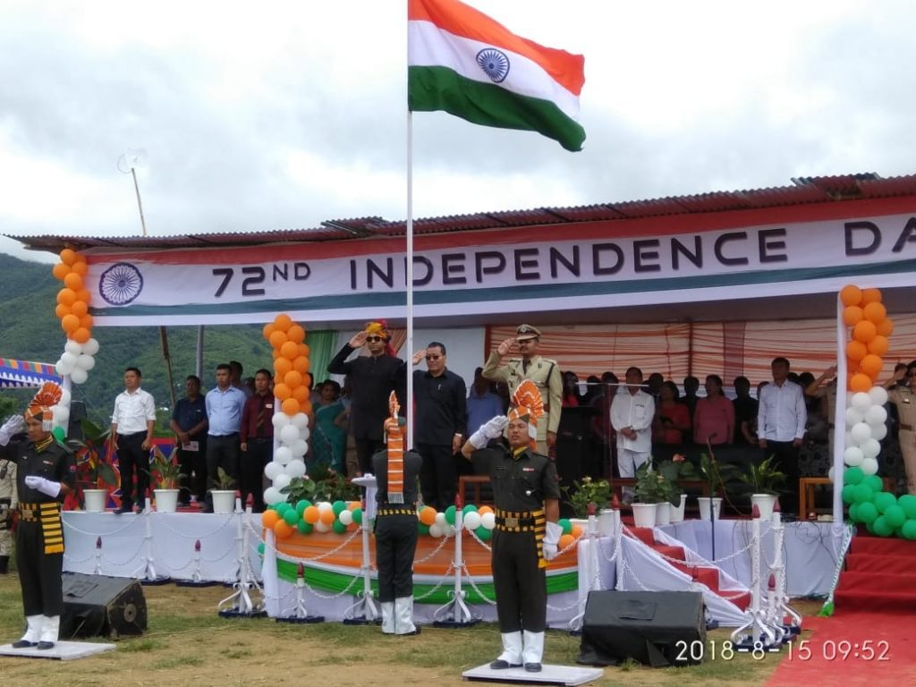 Grand Salute given by Three VIPs during independence day