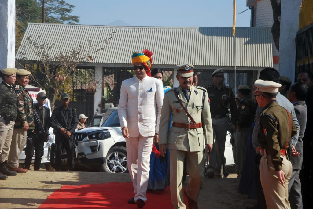 Arrival of Chief Guest, DC