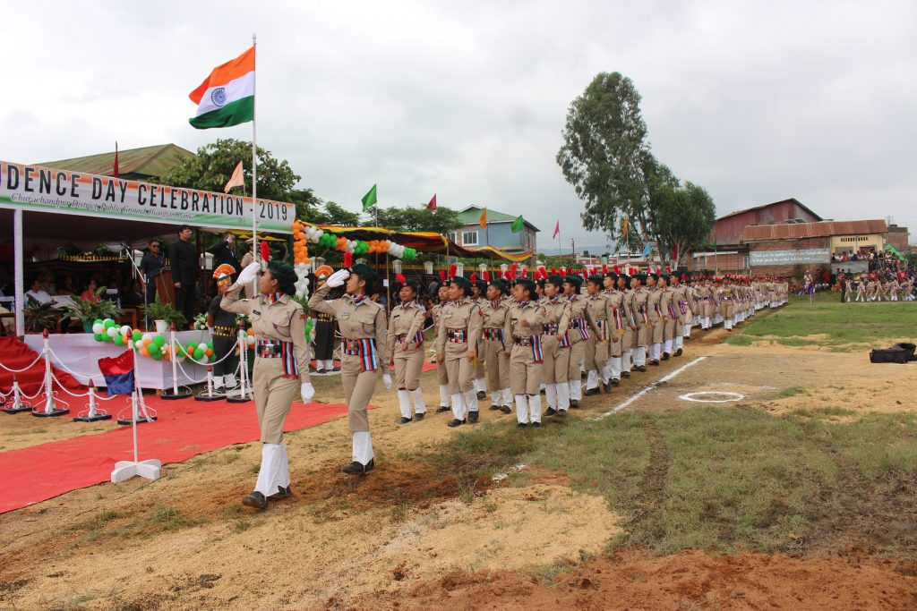Salute given by Lady contingent