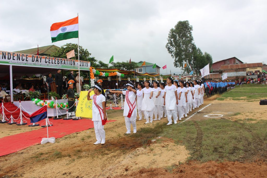 Salute by JNV girls