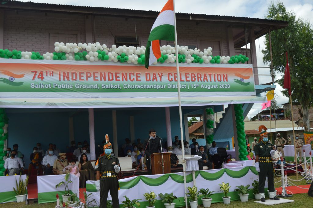 Chief Guest giving Speech on Independence Day 2020