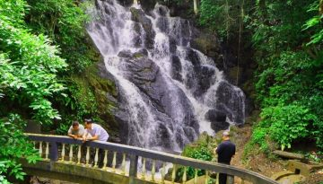 People enjoying Water Fall