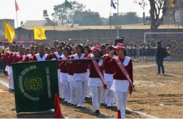 JNV Students March Past