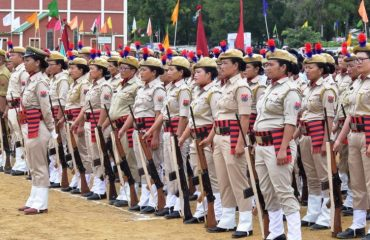 Women Police Contingent ready for March Past