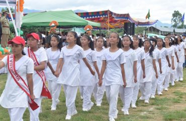March Past by JNV Senior Girls