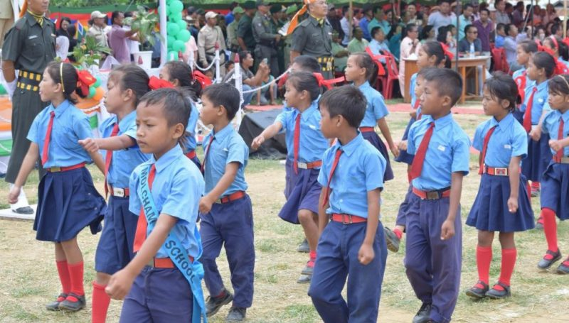 March Past Show by Small Children on 15th August