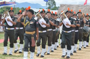 March Past by Band Party during Independence Day