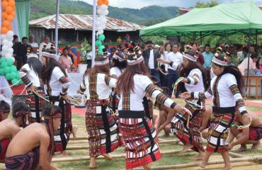 Beautiful Bamboo Dance Show during Independence Day