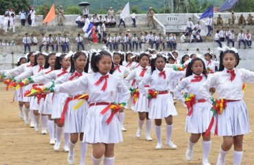 JNV girls giving cultural show on 15th August