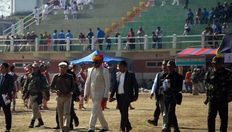 Inspection of Stalls by DC during Republic Day