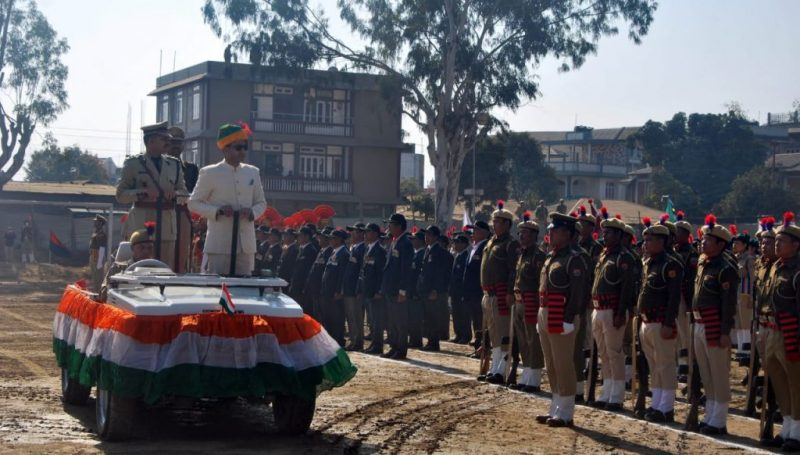 Parade Inspection by Chief Guest