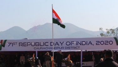 DC giving Satlute on 71st Republic Day
