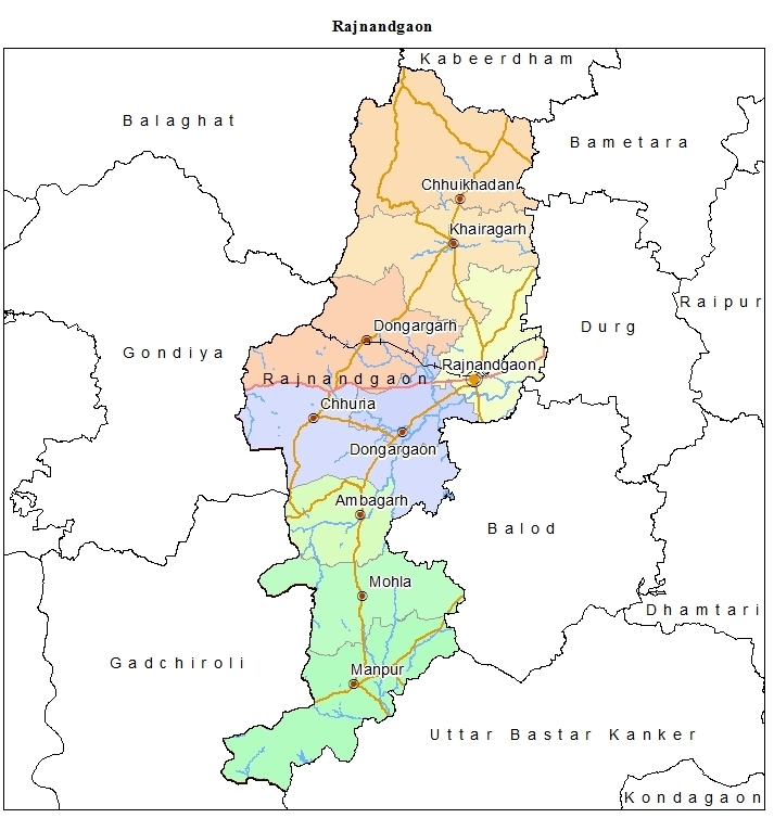Map of Rajnandgaon District