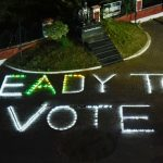 Lighting in Collectorate with tag line ready to vote.