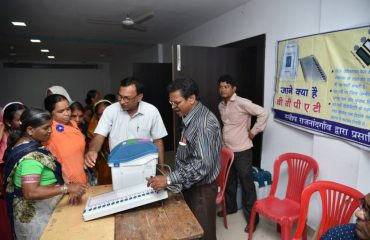 EVM,VVPAT demonstration to old age voters on international old age day