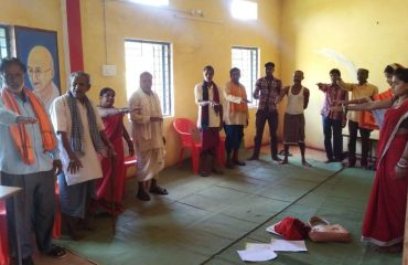 Pledge by Voters at Gram Panchayat Khairi-Bundeli