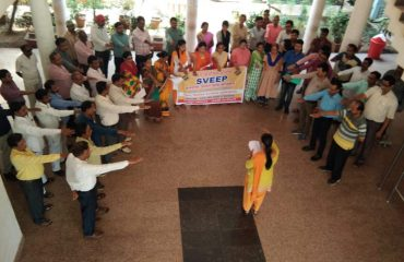 Pledge under SVEEP at Zilapanchayat Rajnandgaon