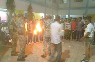 The torch march was flagged off under the sweep program in Manpur by District Superintendent of Police, Rajnandgaon