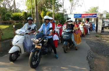 Bike rally-traffic police with the message of voter awareness.