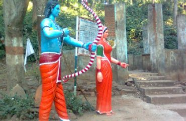 Lord Ram and Sita Statue at Ram Jharna
