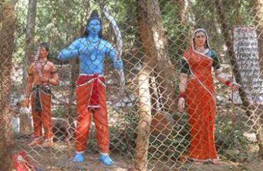 राम झरना में राम-सीता जी की मूर्ति