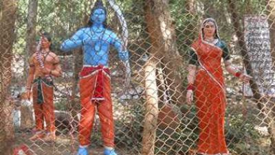 Ram and Sita Statue at Ram Jharna