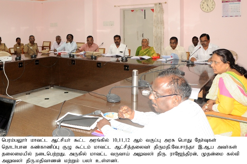 Monitoring Committee Meeting regarding +1, +2 and 10th Govt. -19/02/2020 Examination conducted by the Collector