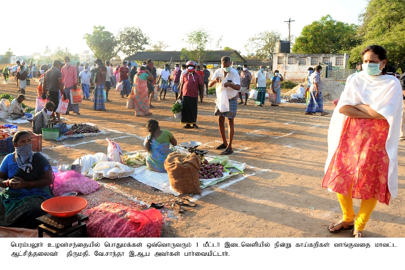 Establishing Vegetable Markets at places which are not crowded