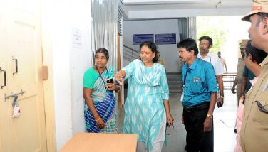 Inspection of the Counting Centre by the District Collector - 06.05.2019