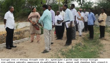 Inspection of the Drinking Water Schemes in Perambalur District.