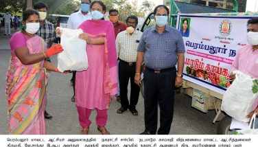 District Collector inaugurated the sales of vegetables through mobile vegetable shops - 03.04.2020