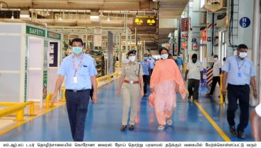 Inspection of the Corona Virus Preventive Measures at the MRF Factory - 14.05.2020