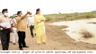 District Collector inspected the Kudimaramathu work in Perambalur District - 01.07.2020