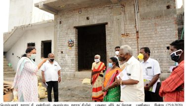 Inspection of the various Development works carried out by the Department of Rural Development by the District Collector - 25.09.2020
