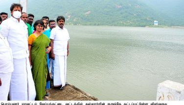 Opening of the Vishwakudi Dam by the District Collector to release water for Agricultural Activities - 19.12.2020