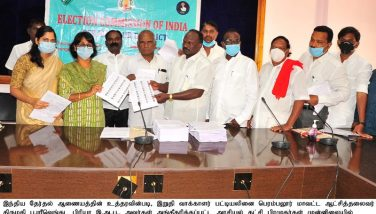 District Collector released the final electoral list for Perambalur District in the presence of the leaders of recognized political parties - 20.01.2021